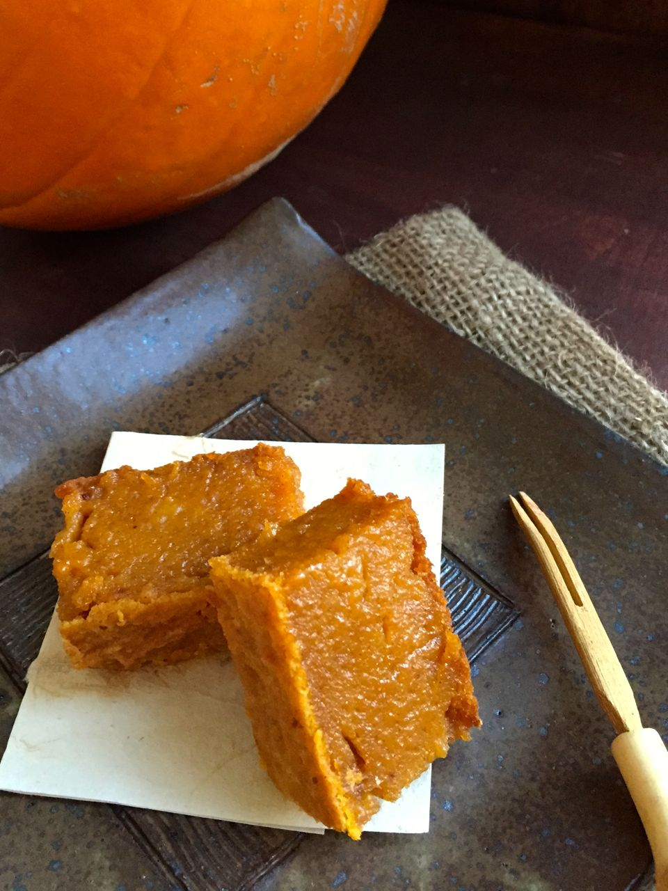 The photo below captures pumpkin mochi made with organic canned ...