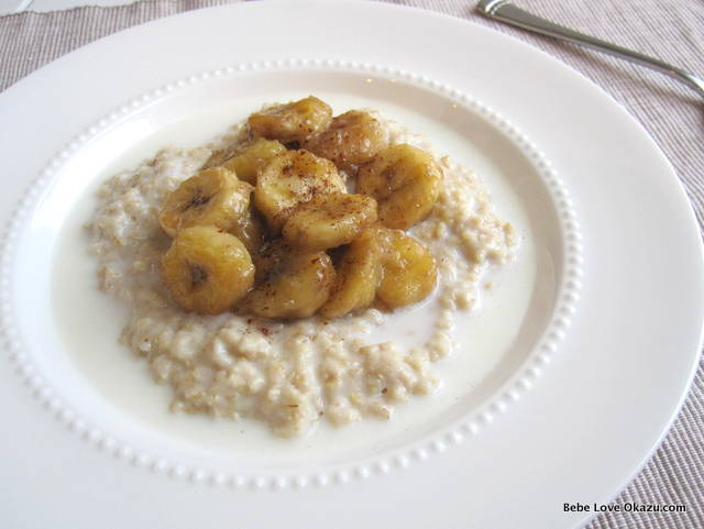 Oatmeal Caramelized Bananas - 3