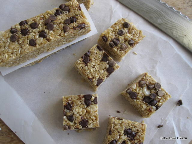 Chewy Chocolate Chip Granola Bars (No Bake) | Bebe Love Okazu