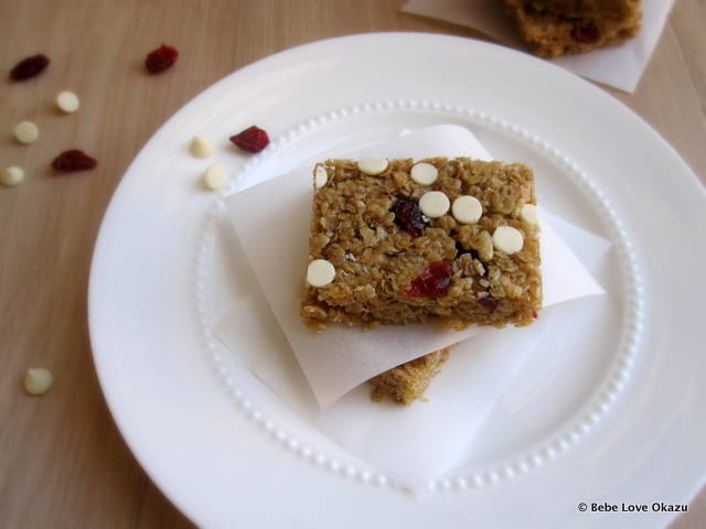 Chewy Cranberry Yogurt Chip Granola Bar