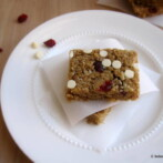 Chewy Granola Bars with Dried Cranberries, Yogurt Chips & Blueberry Flaxseed