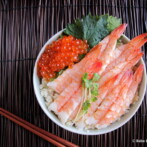 Ikura and Ebi Chirashi for Hinamatsuri (Cod Roe and Shrimp Scattered Sushi for Japanese Girls' Day 2014)