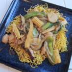 Chicken and Vegetable Chow Mein & Crafts for Chinese New Year
