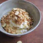 Greek Yogurt with Homemade Granola, Almonds and Honey