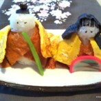 Hina Ningyo Sushi (Dolls Made of Rice) and Hinamatsuri 2012 (Japanese Girls Day)