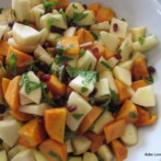 Persimmon Salad with Pomegranate and Apples