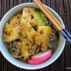My Moms Easy Soba Broth & Kakiage (Vegetable, Shrimp) Tempura Soba