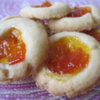 Kumquat Shortbread Thumbprint Cookies